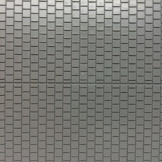 Plaque dallage de sol gris avec trottoir et rigole centrale -HO-1/87-AUHAGEN 52423