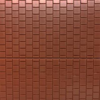 Plaque dallage de sol marron avec trottoir et rigole centrale -HO-1/87-AUHAGEN 52424