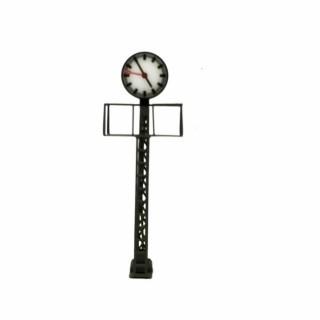 Horloge de gare avec passerelle et éclairage à led-HO-1/87-VIESSMANN 5081