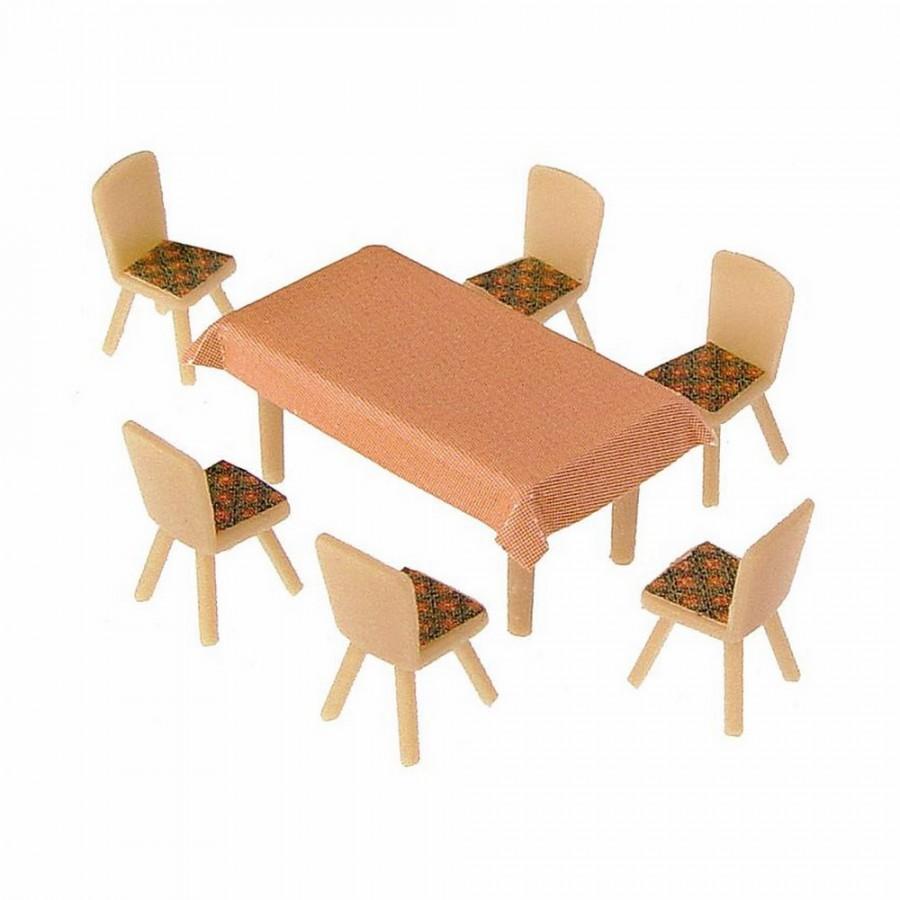 4 tables et 24 chaises-HO-1/87-FALLER 180442