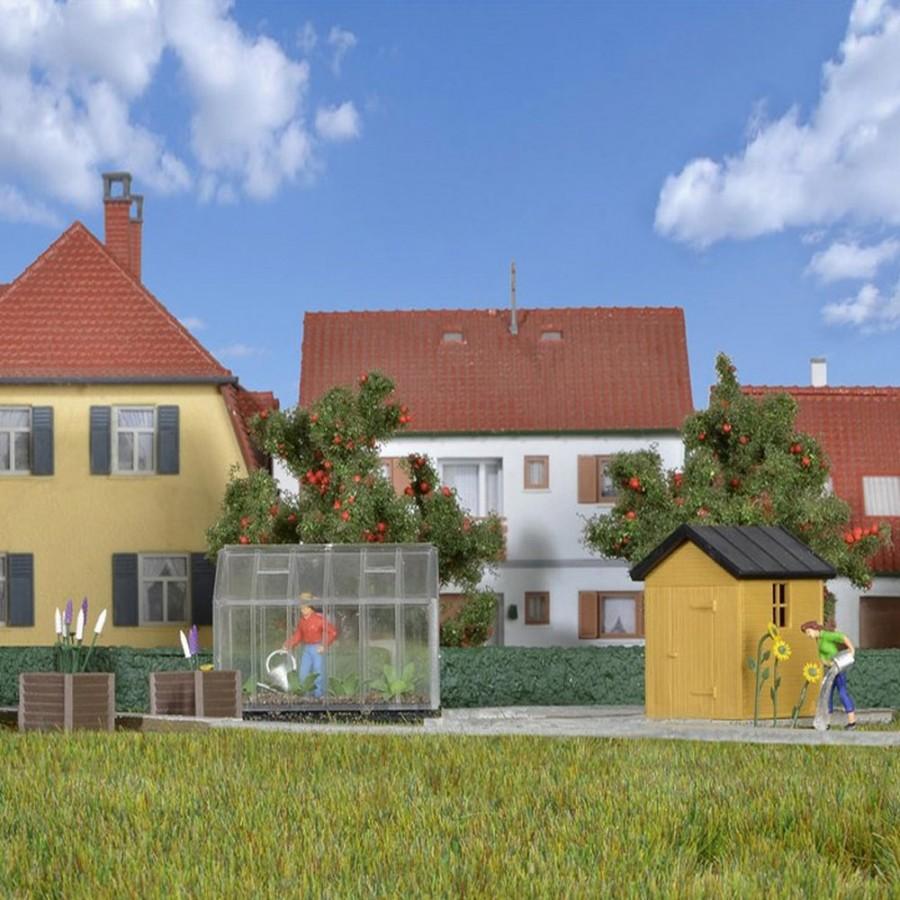 Set jardin ho kibri 38144 modelisme ferroviaire et diorama for Cabane de jardin suisse