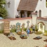 6 grandes têtes de tombes-HO-1/87-NOCH 14871