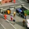 poubelles et bennes à ordures ménagères-HO-1/87-NOCH 14825