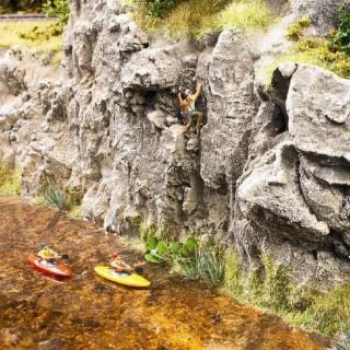 2 kayakistes pour diorama-HO-1/87-NOCH 16809