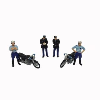 Set de gendarmes contrôle routier-HO-1/87-PREISER 10191
