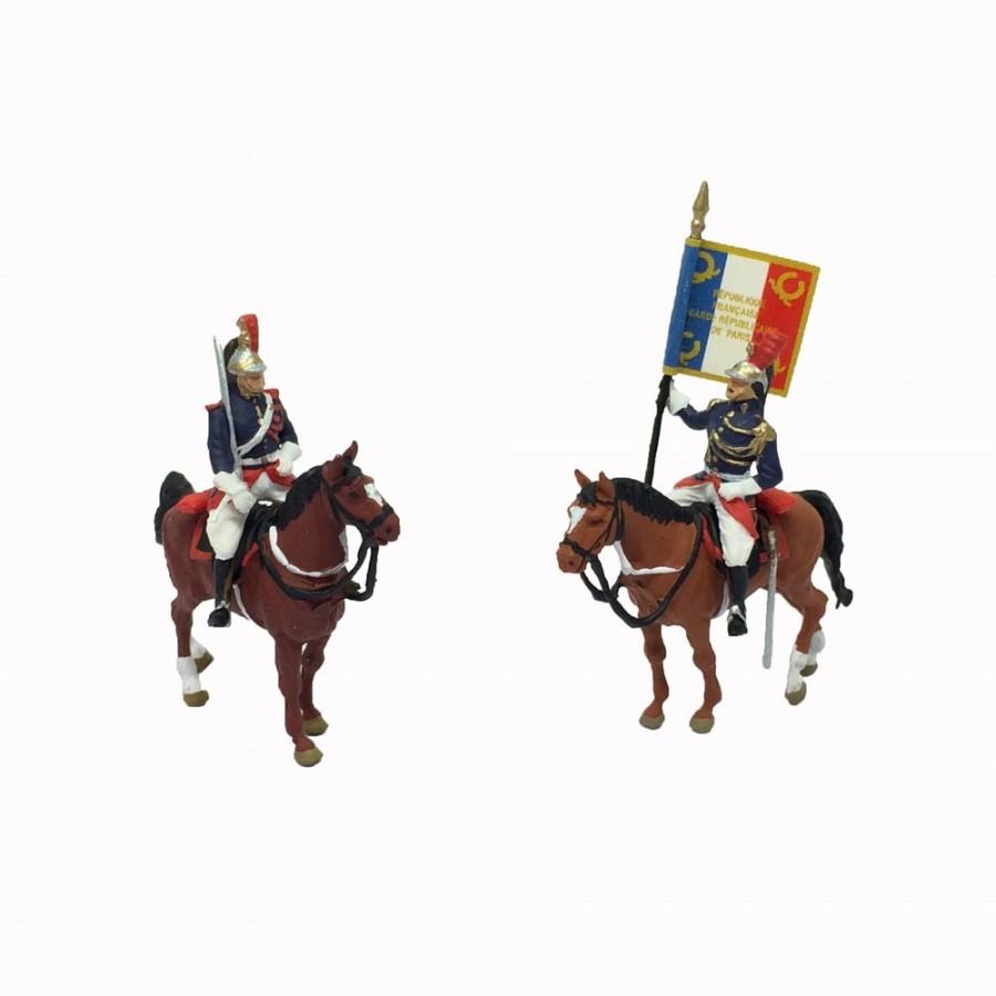 2 cavaliers de la garde républicaine-HO-1/87-PREISER 10460