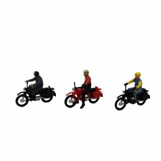 3 motards 2 roues-HO-1/87-PREISER 10081