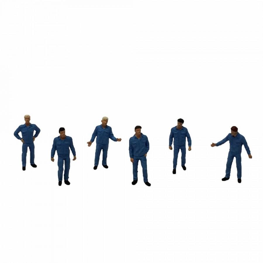 6 mécaniciens et cheminots-HO-1/87-PREISER 14031