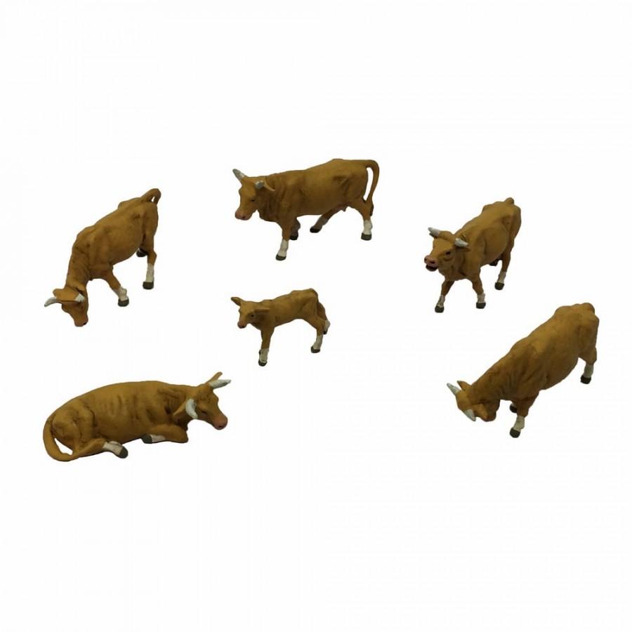 6 vaches blondes-HO-1/87-PREISER 10147