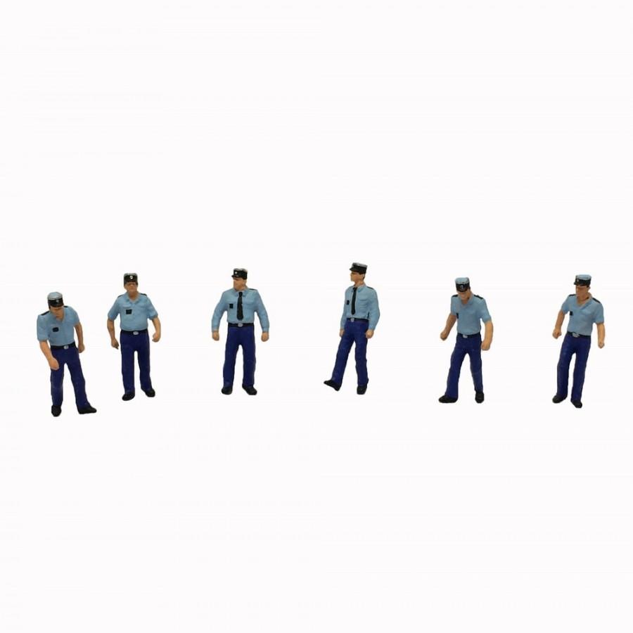 6 gendarmes pour un contrôle routier-HO-1/87-PREISER 10341