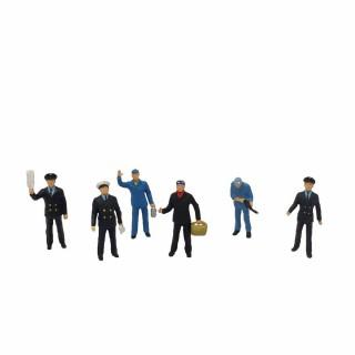 6 employers de gare-HO-1/87-PREISER 10086