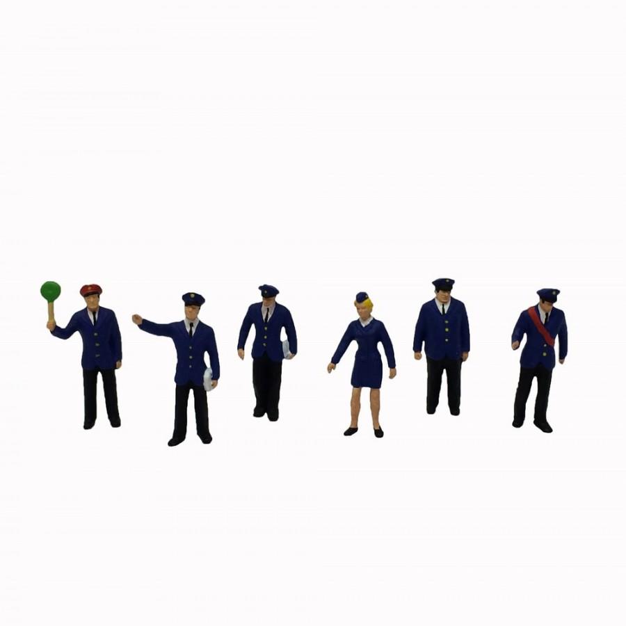 6 personnels de gare-HO-1/87-PREISER 10011
