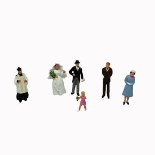 Mariage à l'église 6 figurines-N-1/160-PREISER 79085