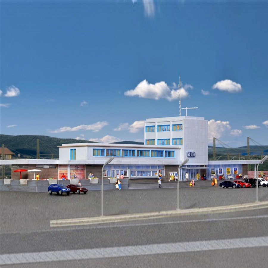 Grande gare moderne avec éclairage led Viesmann-N-1/160-KIBRI 37400