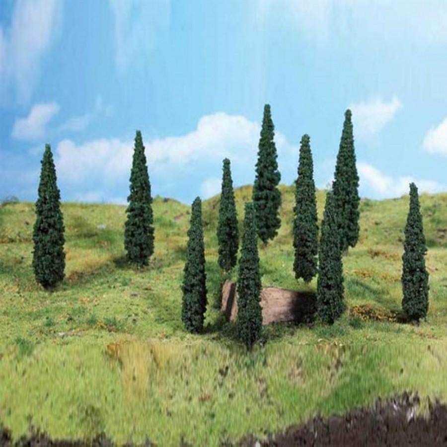 8 arbres type cyprès-HO-1/87-Heki 1190
