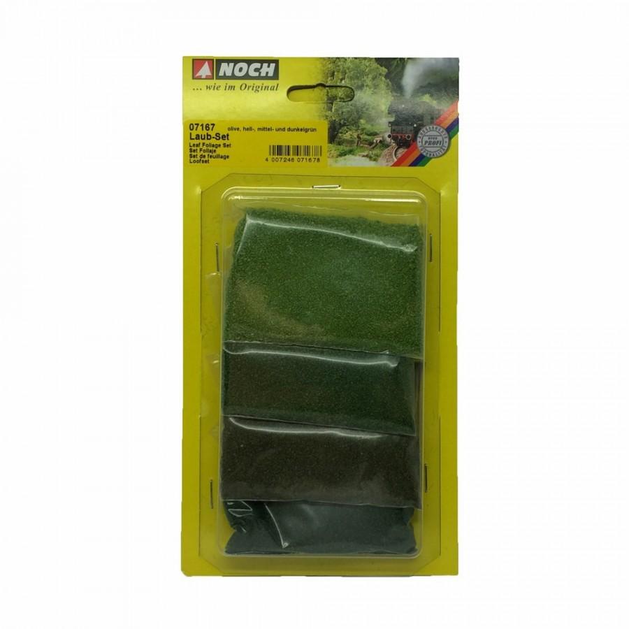 Assortiment de 4 couleurs de feuilles vertes-HO-N-NOCH 07167