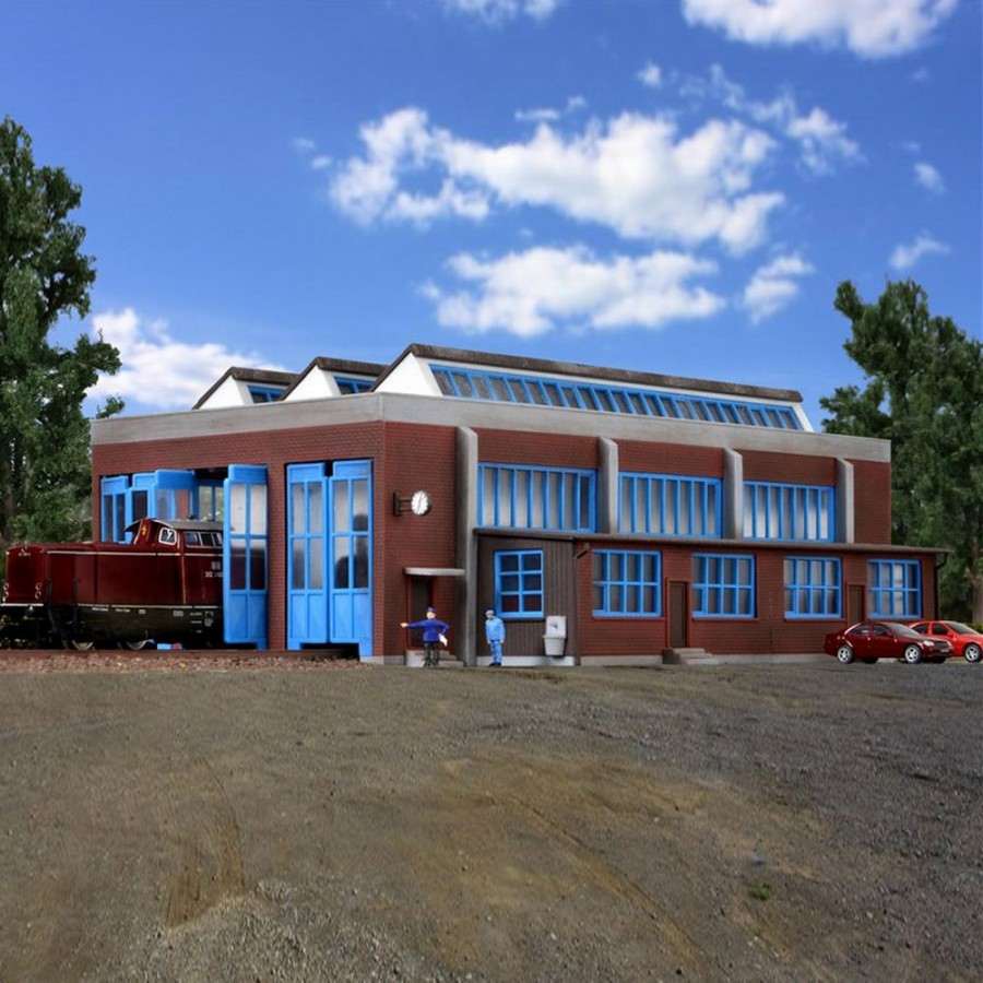 Hangar pour 3 locomotives électrique-N-1/160-KIBRI 37806