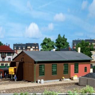 Remise pour 2 locomotives-HO-1/87-AUHAGEN  11332