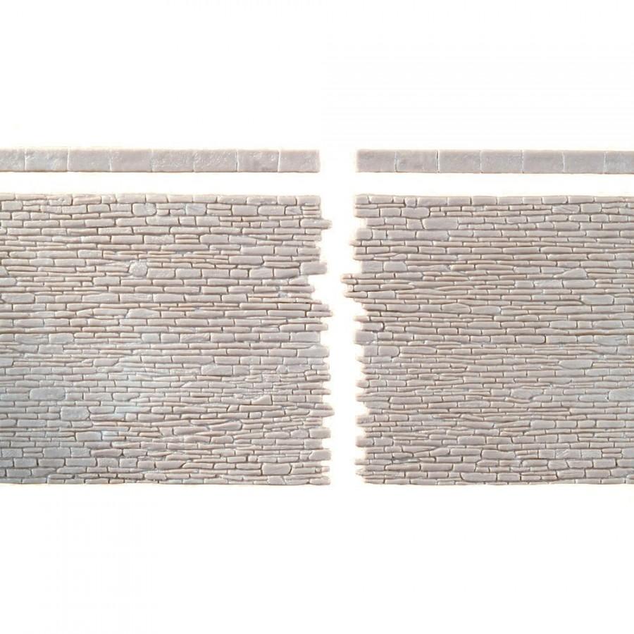 2 plaques de murs en pierres-HO-1/87-AUHAGEN 42649