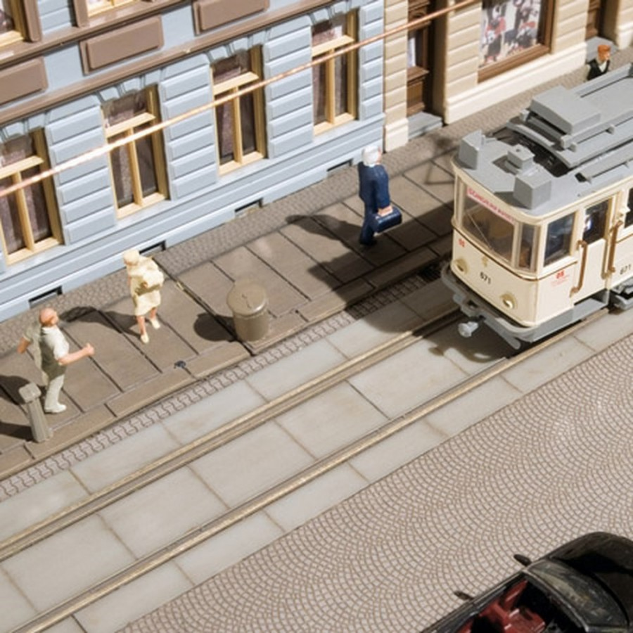 Plaques de sol entre rail ville-HO-1/87-AUHAGEN 41617