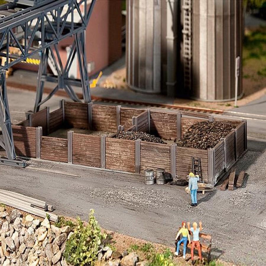 Bac à charbon bois et métal-HO-1/87-FALLER 120254