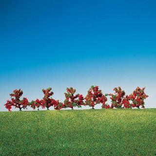 6 buissons fleurs rouge-HO-1/87-FALLER 181476