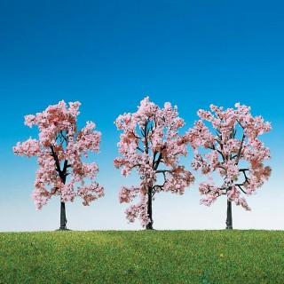 3 cerisiers à fleurs-HO-1/87-FALLER 181406