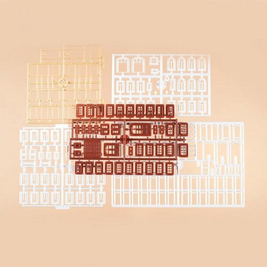 Set fenêtres et portes pour vos maquettes-HO-1/87-AUHAGEN  48648