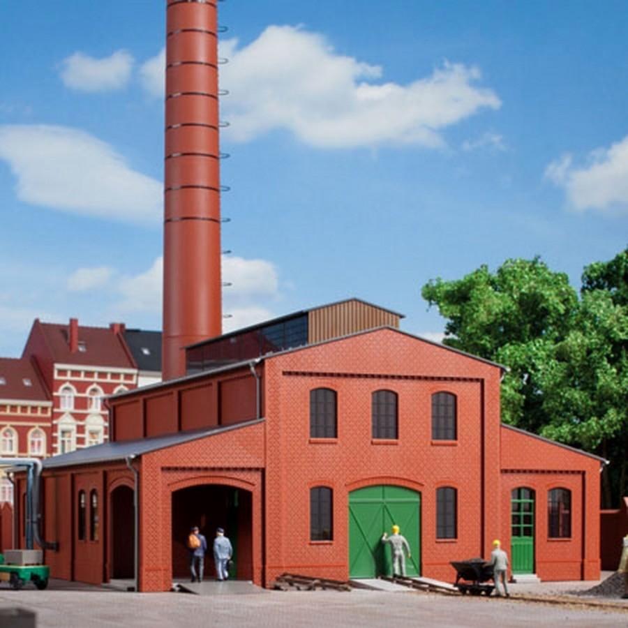 Batiment industrielle avec cheminée-HO-1/87-AUHAGEN  11431