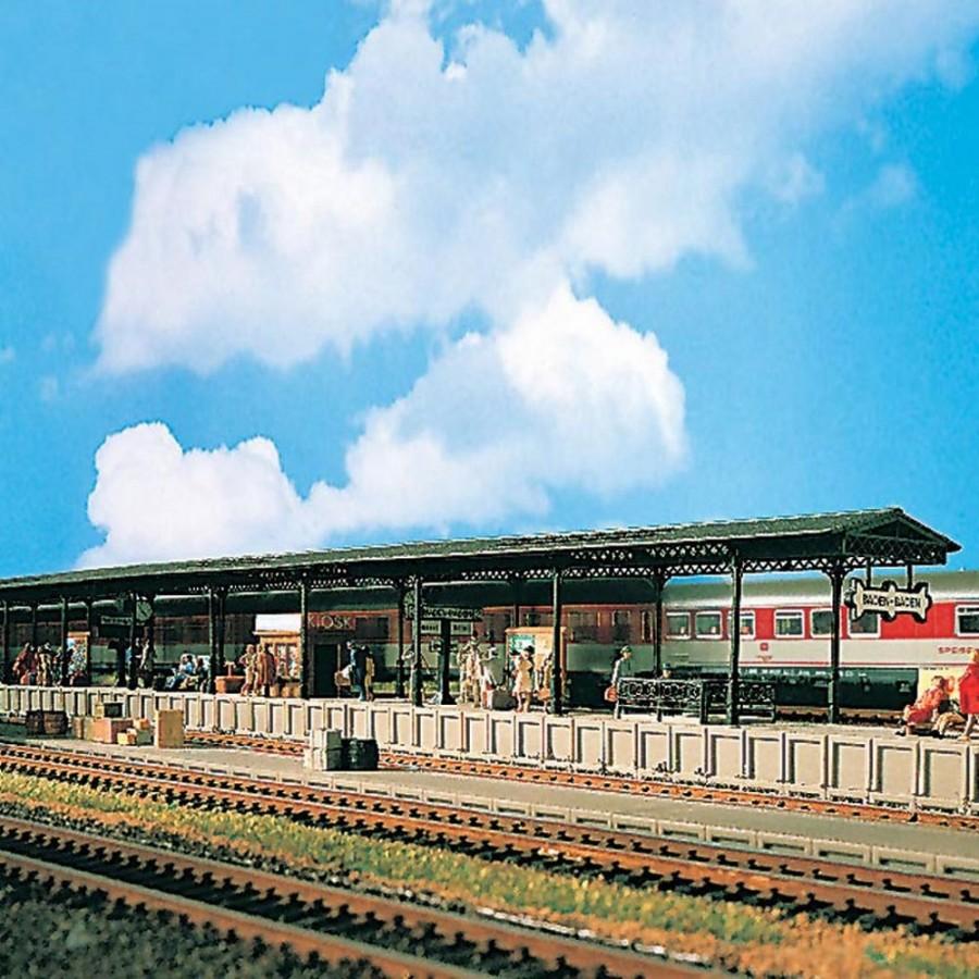 Quai de gare semi couvert -HO-1/87-VOLLMER 43559