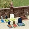 Tombes avec fontaine pour cimetière-HO-1/87-BUSCH 7662