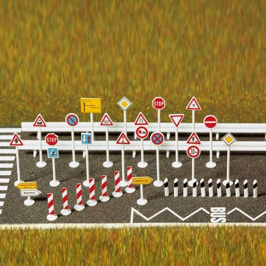 Panneaux de signalisation routière-HO-1/87-BUSCH 6027