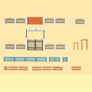 Set de barrières et portails, 3 modèles-HO-1/87-AUHAGEN 42648