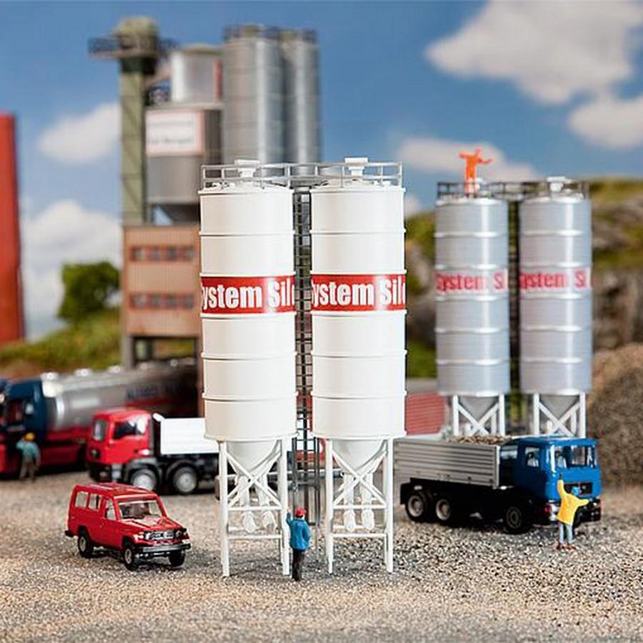 2 silos industriels-HO-1/87-FALLER 130476