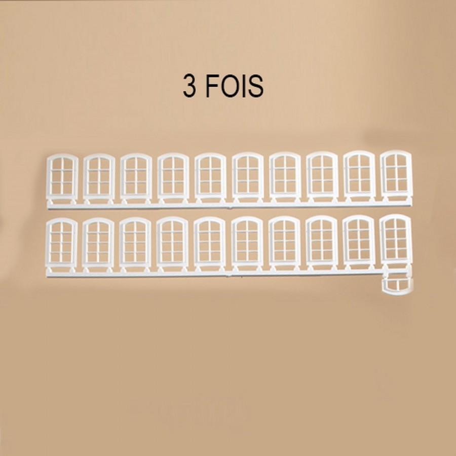 63 fenêtres vertes pour maquette-HO-1/87-AUHAGEN  80200