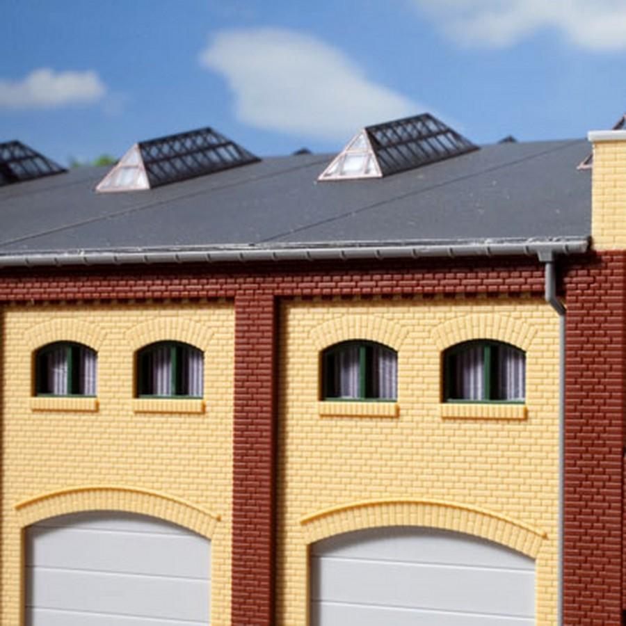 20 petites fenêtres vertes pour maquette-HO-1/87-AUHAGEN 80216