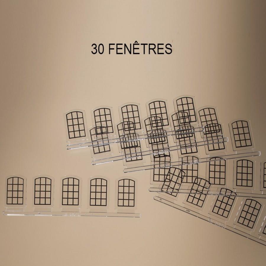 30 fenêtres petits bois pour maquette-HO-1/87-AUHAGEN 80213