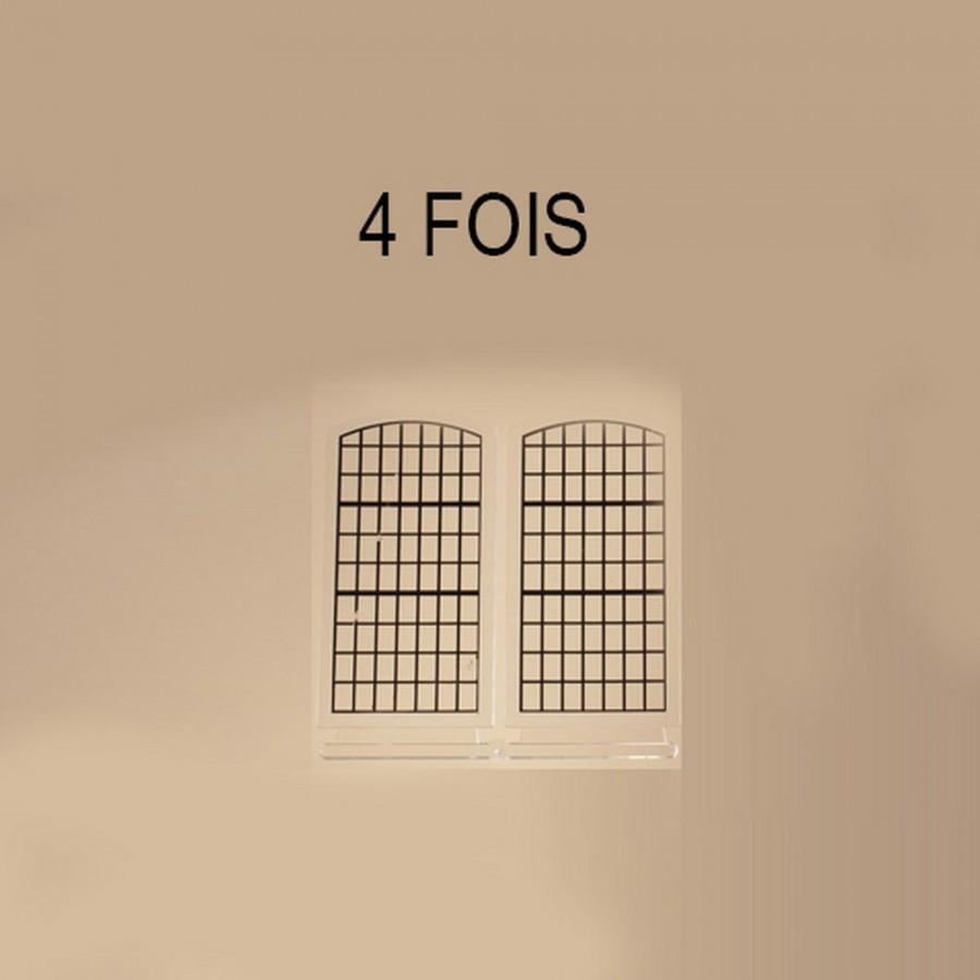 8 grandes fenêtres petits bois pour maquette-HO-1/87-AUHAGEN 80210