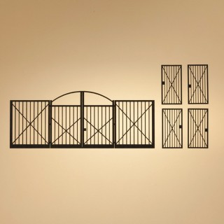 1 portail et 4 portillons pour maquette-HO-1/87-AUHAGEN  80208