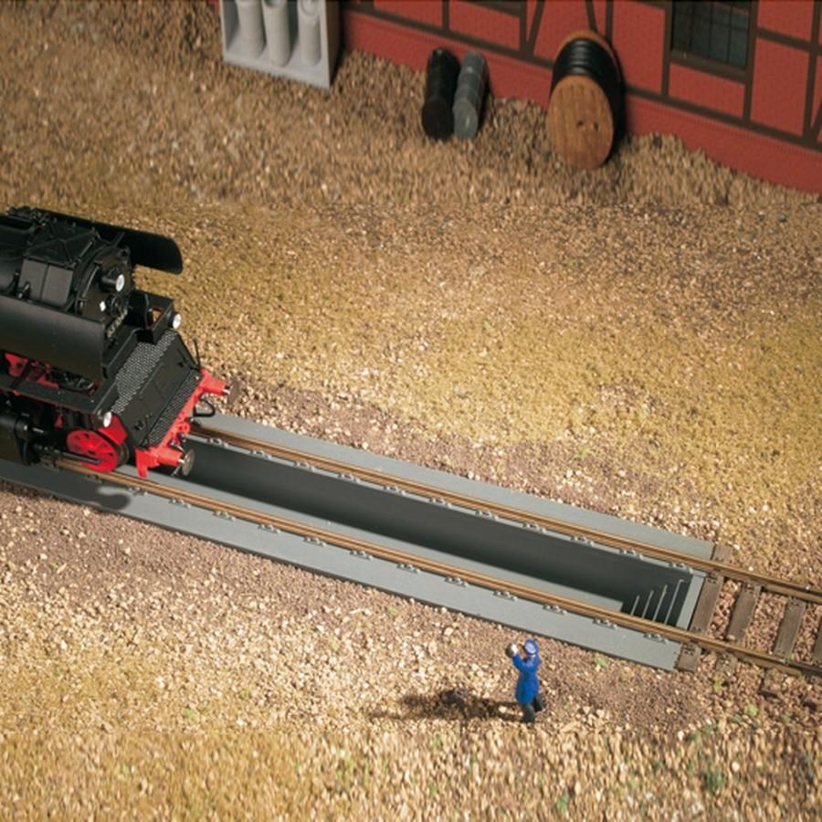 2 fosses à visite pour locomotive-HO-1/87-AUHAGEN  41612