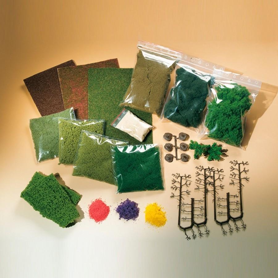 Set de flocages et arbres pour décor-HO-1/87-AUHAGEN  76990