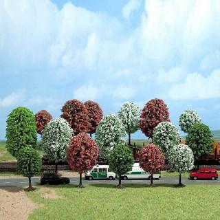 16 arbres fleuris pour diorama-HO-1/87-BUSCH 6484