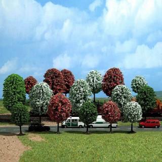 18 arbres fleuris pour diorama-N-1/160-BUSCH 6584