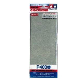 3 papiers à poncer souple P400 pour finition-TAMIYA 87054