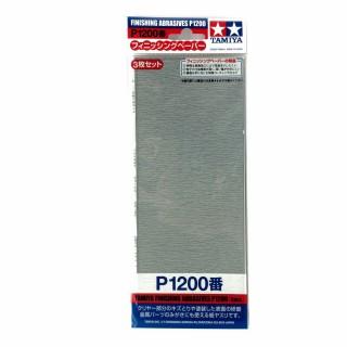 3 papiers à poncer souple P1200 pour finition-TAMIYA 87058