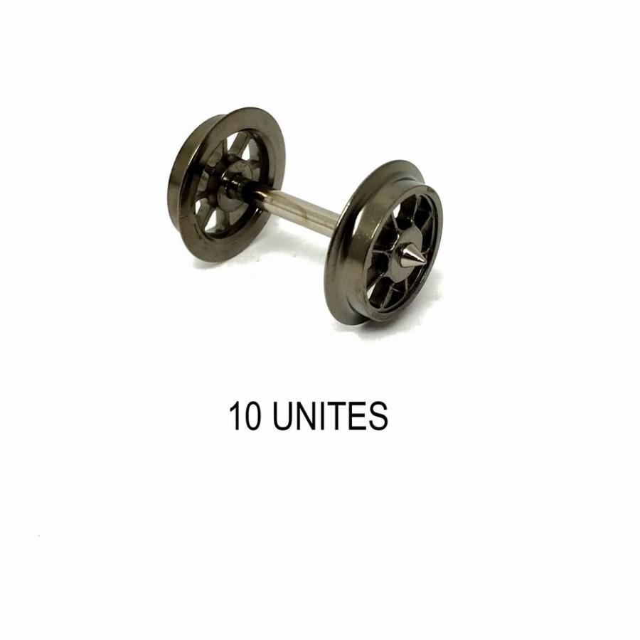 10 essieux à rayons non isolés système 3 rails -HO-1/87-FLEISCHMANN 6562
