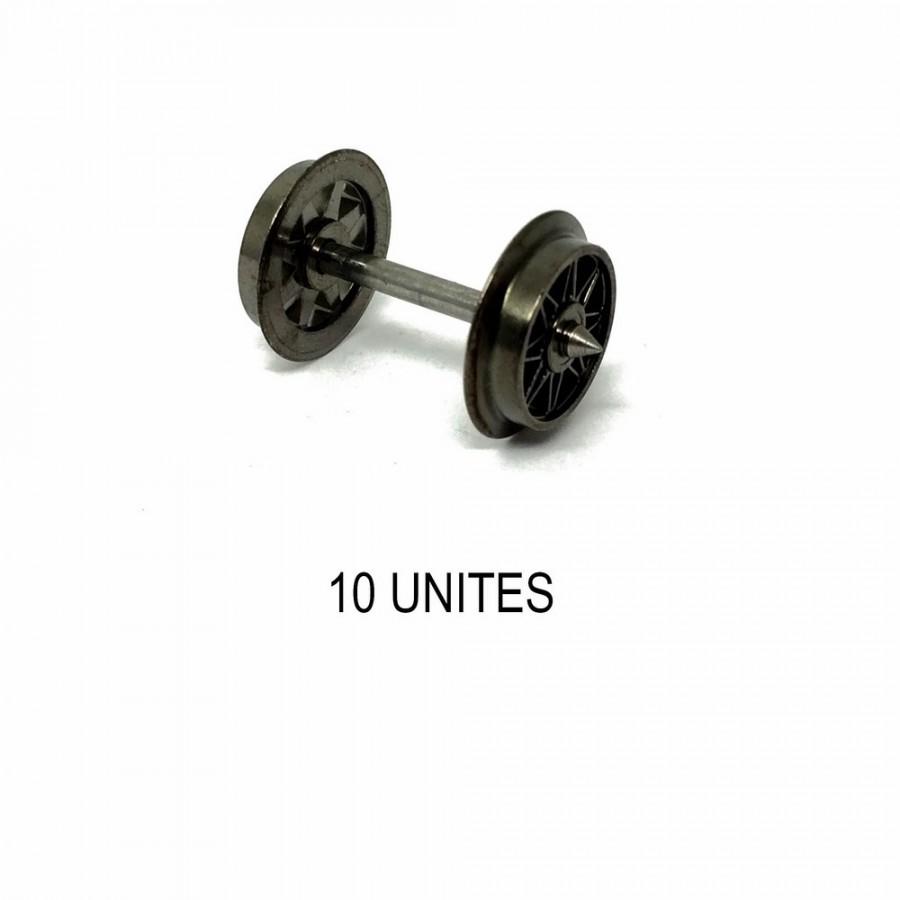 10 essieux à rayons non isolés système 3 rails -HO-1/87-FLEISCHMANN 6563