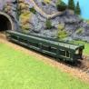Wagon porte autos DDms dev66 Sncf époque IV et V-HO-1/87-HERIS 14123