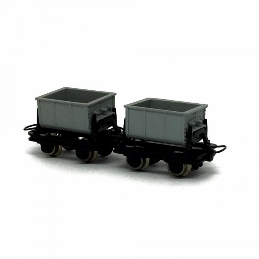 2 wagonnets de mine  -HOe-1/87-ROCO 34601