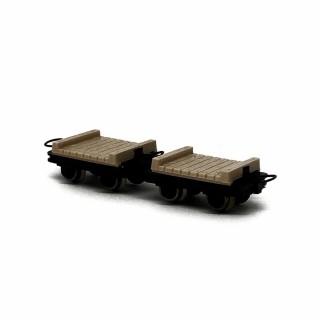 2 wagonnets de mine  -HOe-1/87-ROCO 34607